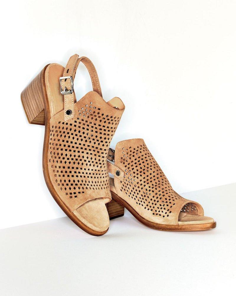 Rag & Bone Wyatt Perforated Mid-Heel Sandal