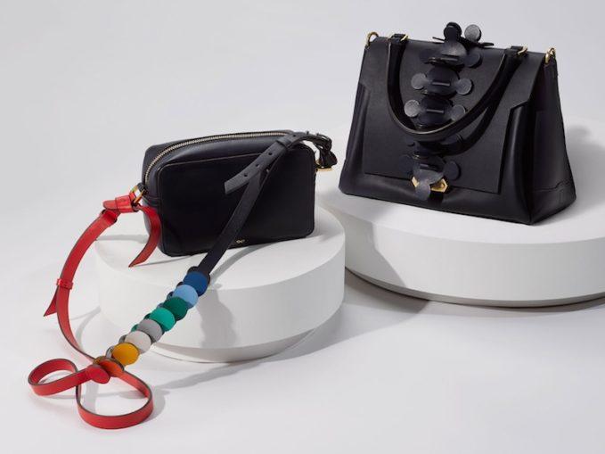 Rainbow Circle Mini Leather Cross-Body Bag