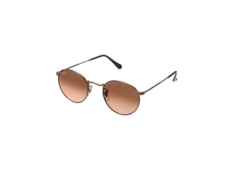 Ray-Ban Metal Round Sunglasses, Shiny Light Bronze