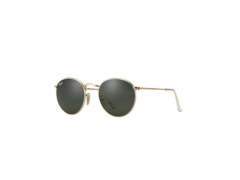 Ray Ban RB3447 50mm Round Metal Sunglasses