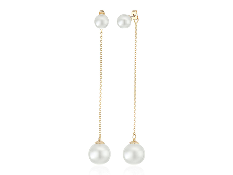Rebecca Minkoff Long Pearl Drop Earring