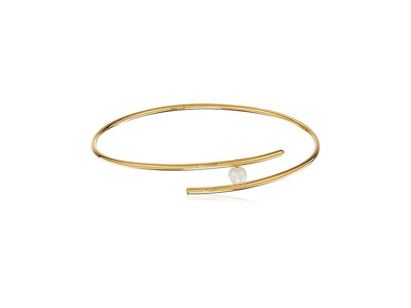 Rebecca Minkoff Metal Linear Interlock Bangle Bracelet