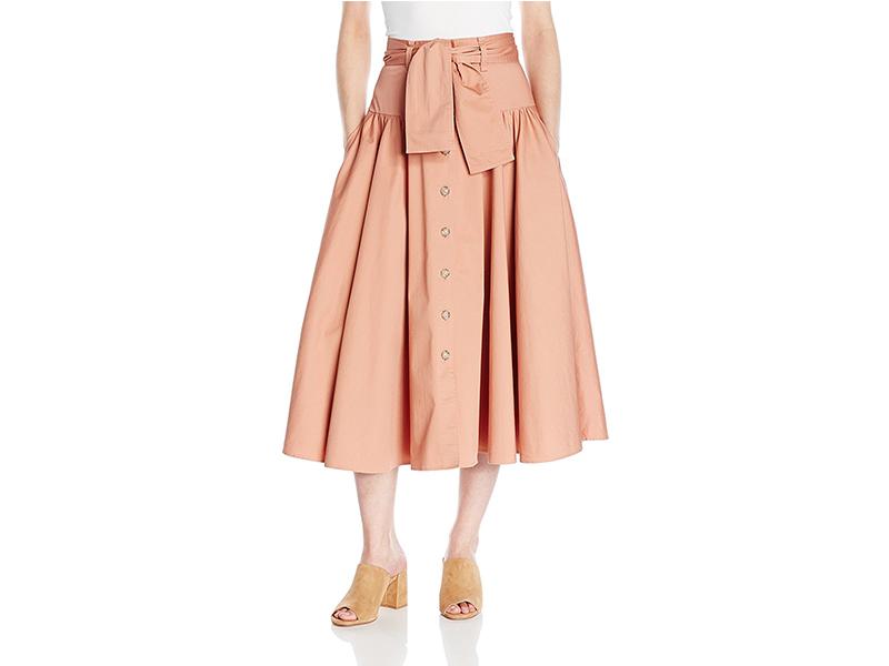 Rebecca Taylor Ctn Belted Skirt