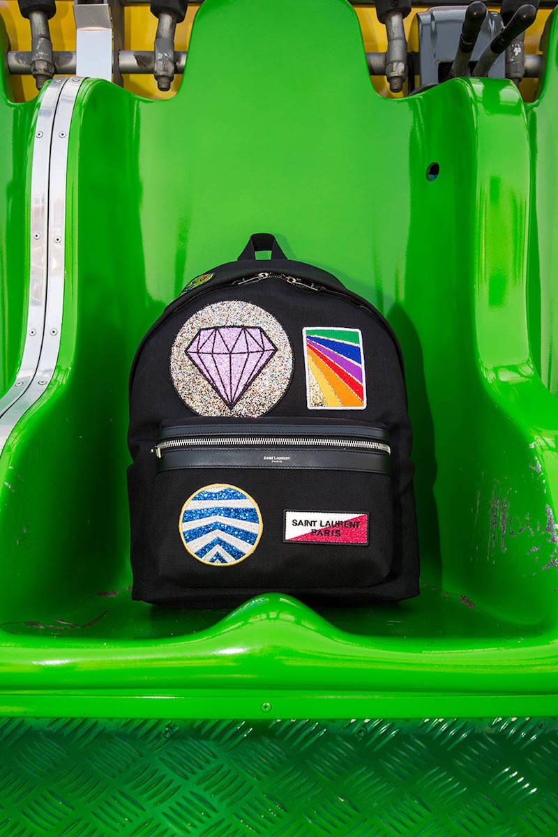 Saint Laurent Multi Patch Cotton Gabardine Backpack