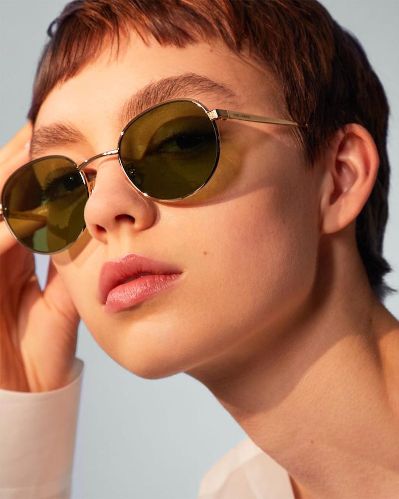 Saint Laurent SL136 Zero Round-Frame Sunglasses
