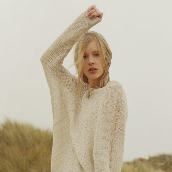 Stella McCartney Asymmetric Loose-Knit Linen Sweater