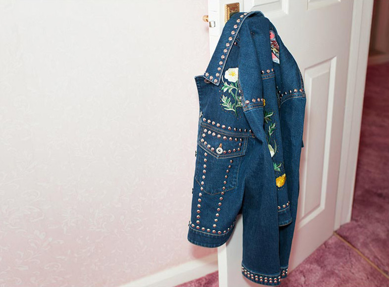 Stella McCartney Nashville Embroidery Denim Jacket