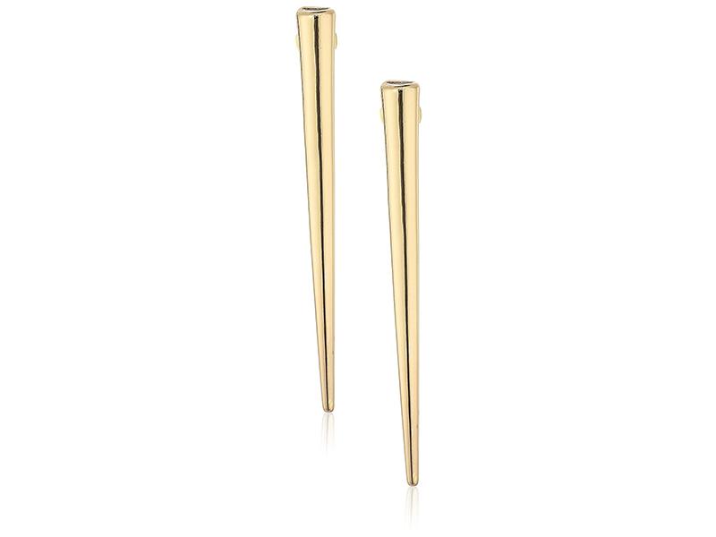 Steve Madden Gold-Tone Long Spike Post Drop Earrings