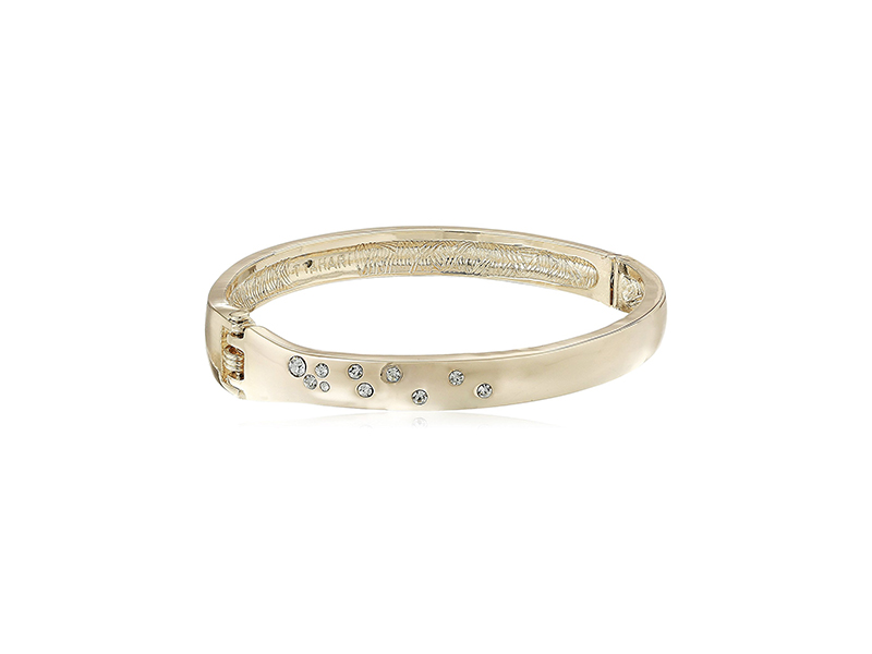 T Tahari Hinge Bangles with Scattered Crystal Bangle Bracelet