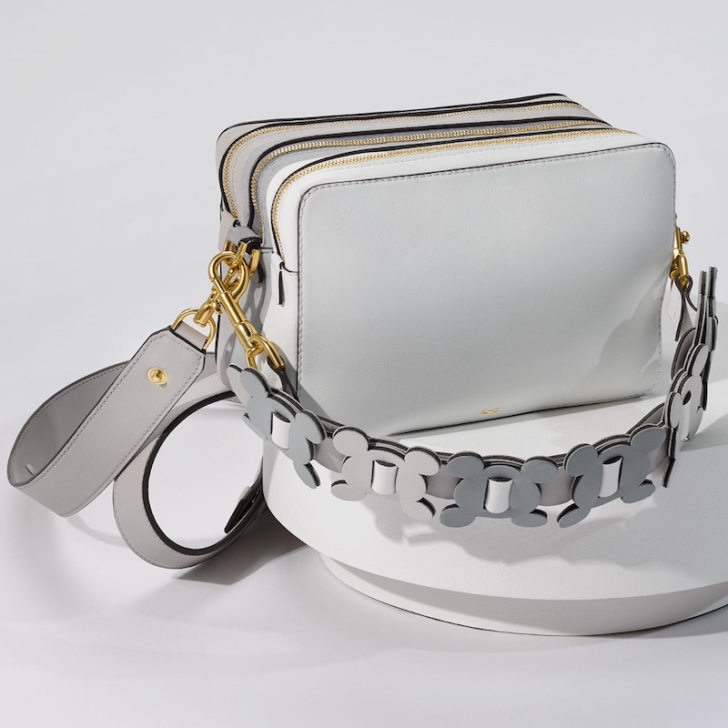 Anya Hindmarch The Stack Leather Cross-Body Bag in White