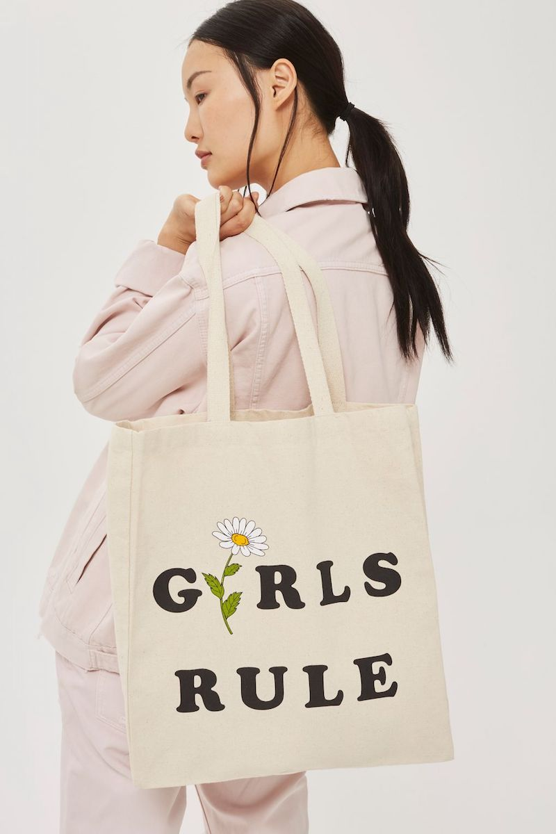 Topshop x FTBC Girls Rule Shopper Bag