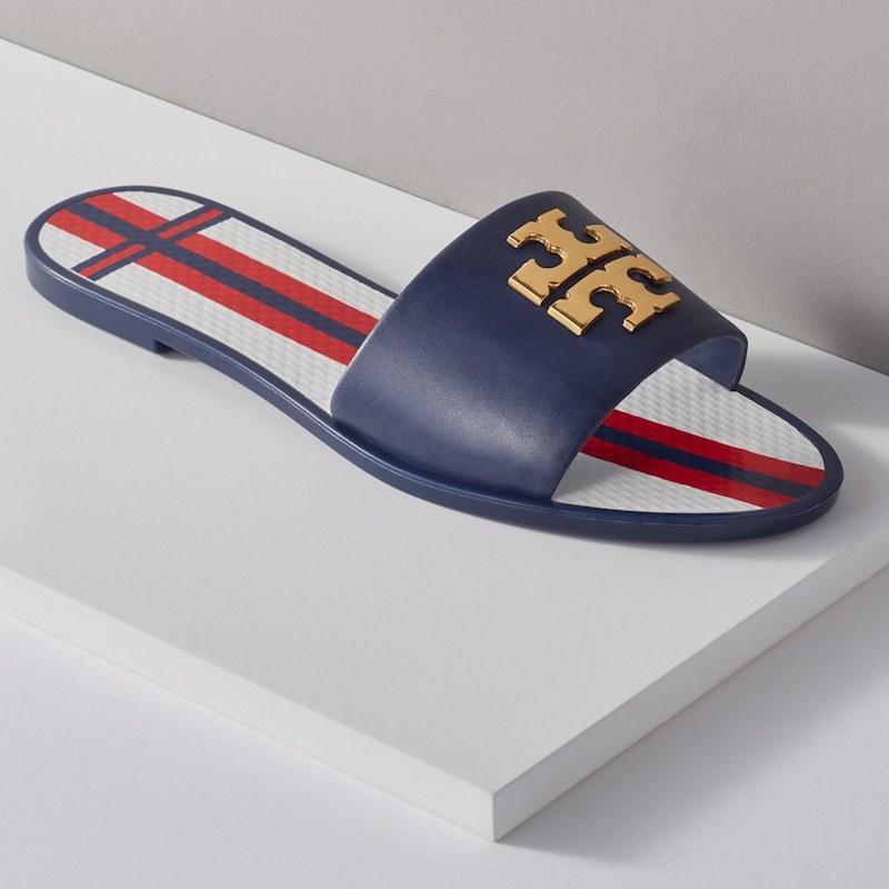 Tory Burch Logo Slide Sandal