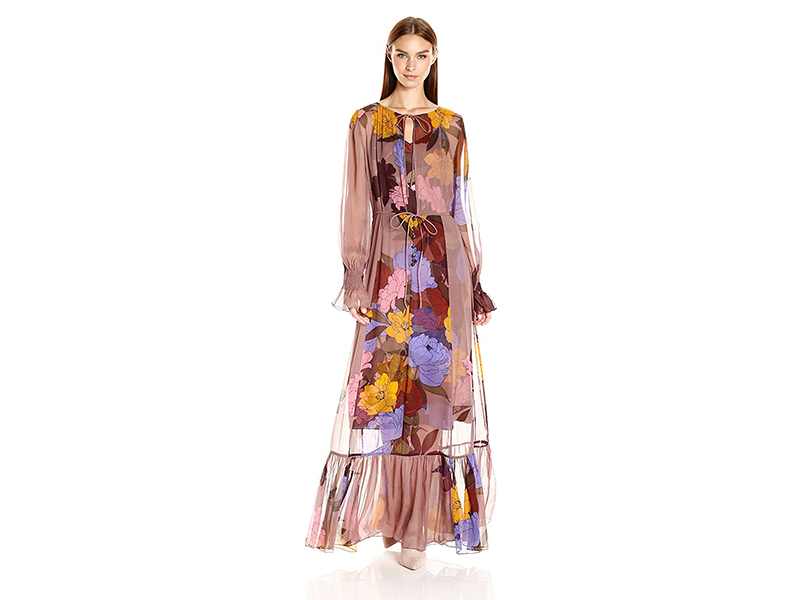 Tracy Reese Flounced Maxi Dress