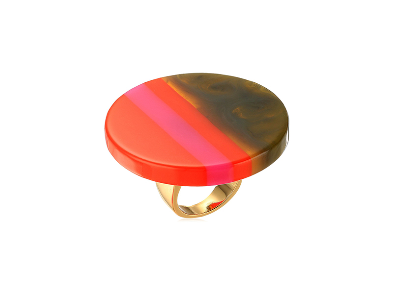Trina Turk Havana Club Resin Ring