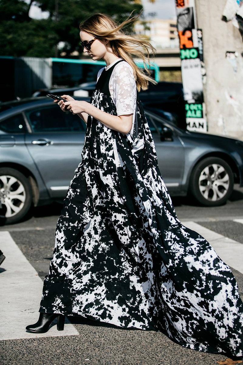 Victor Alfaro Print Cady Drape Dress