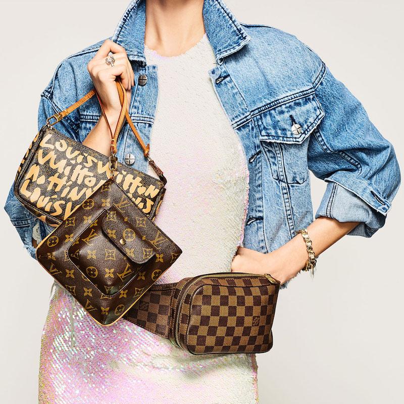 What Goes Around Comes Around Louis Vuitton Beige Sprouse Pouchette