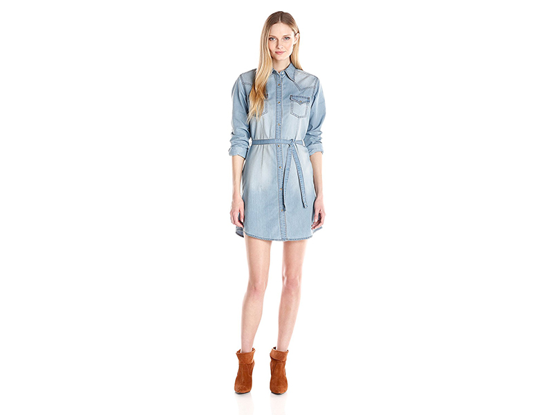 Wrangler Long-Sleeve Denim Shirtdress