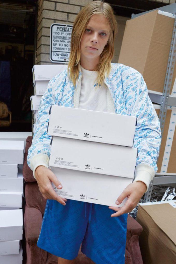 adidas Originals by Alexander Wang Reversible Faux Shearling & Nylon Bomber