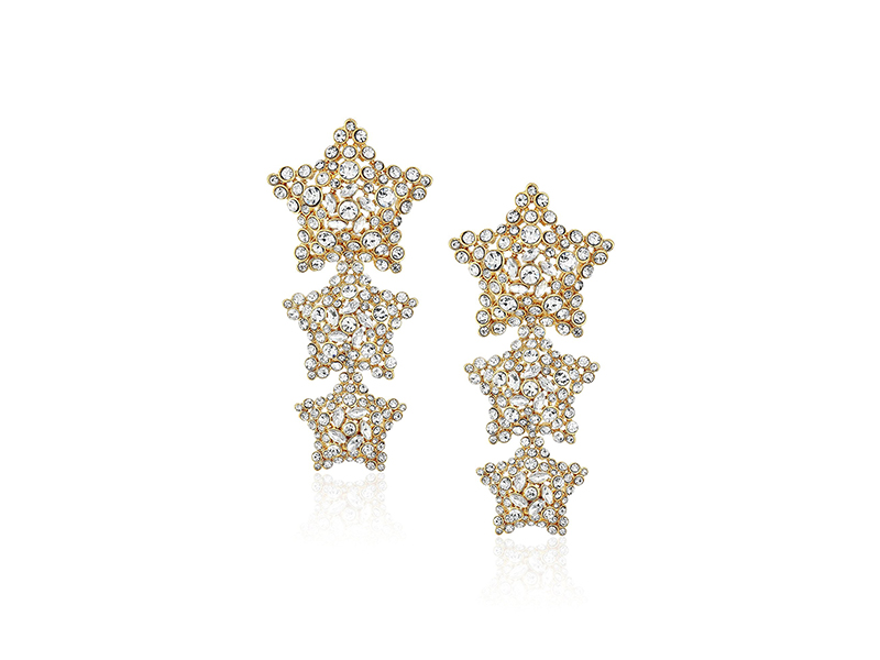 kate spade new york Statement Clear/Gold Drop Earrings