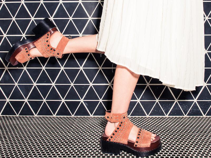3.1 Phillip Lim Nashville Studded Suede Platform Sandals