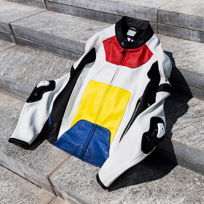 ALYX Color Block Leather Moto Jacket