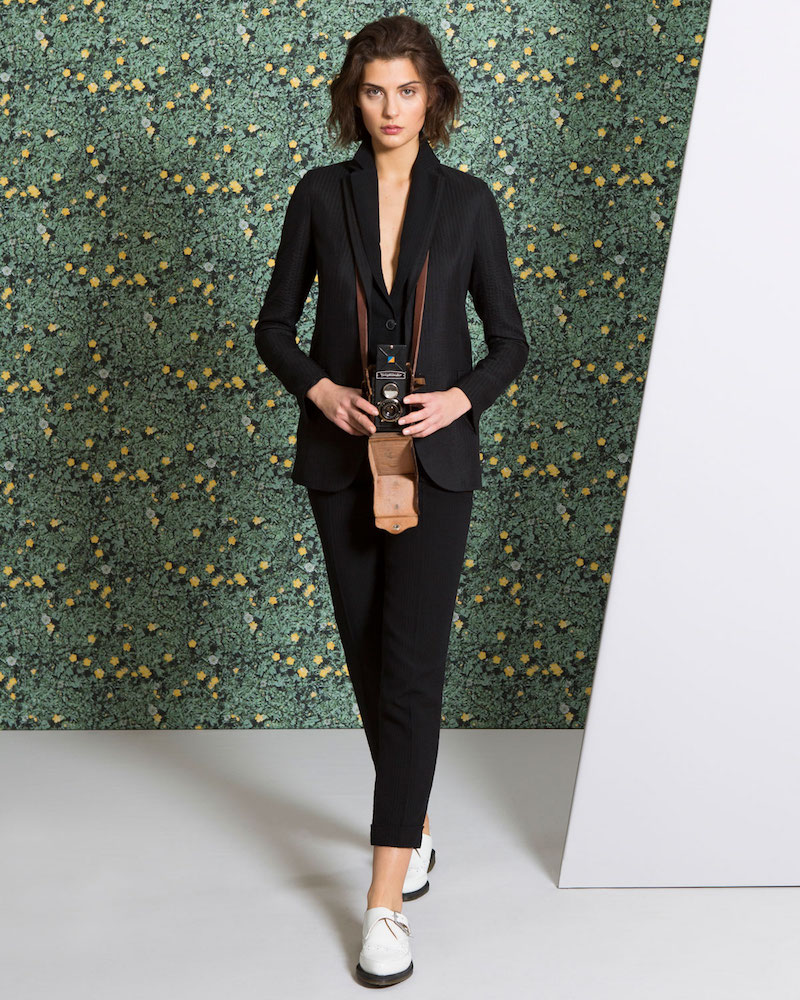 Akris Seersucker Silk-Wool Blazer
