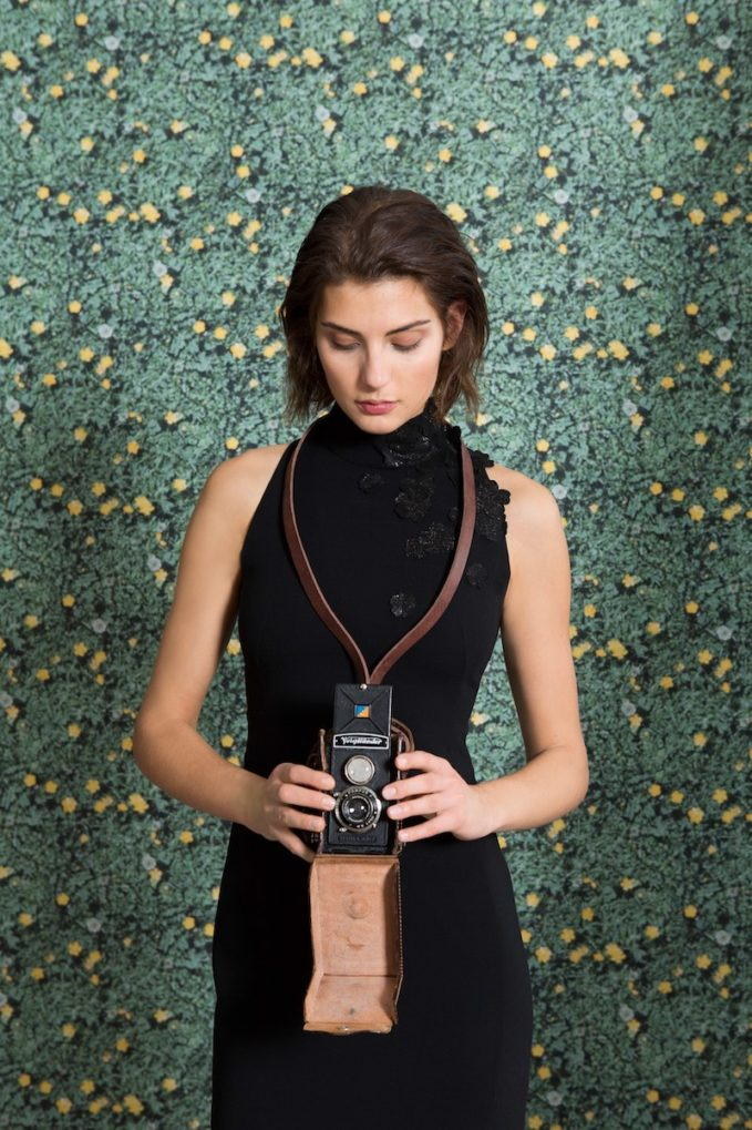 Akris Sleeveless Floral-Embellished Mock-Neck Dress