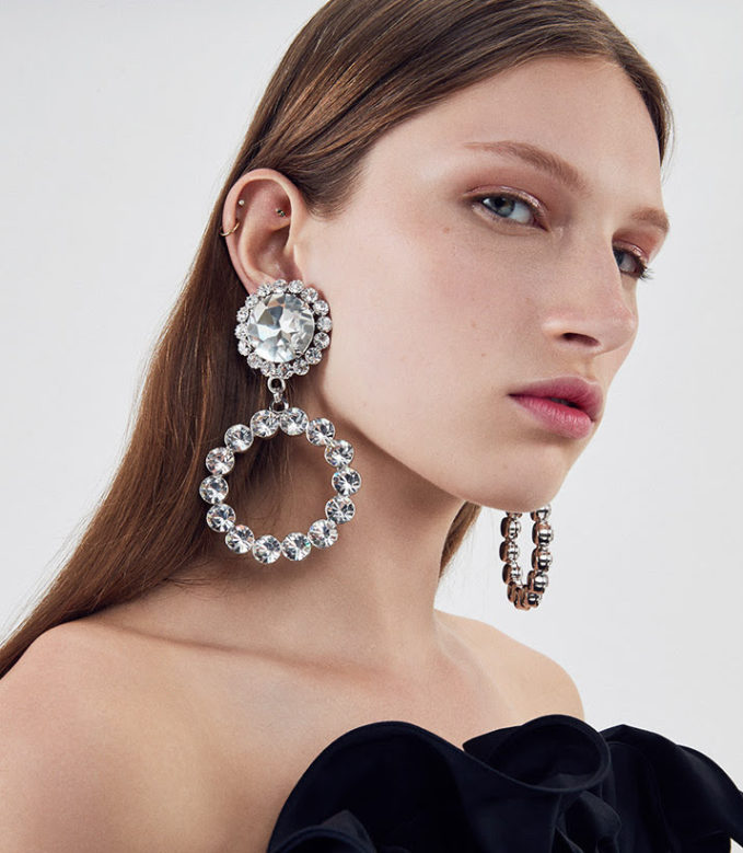 Alessandra Rich Circle Earring
