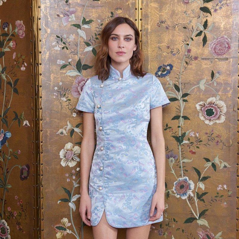 AlexaChung Mandarin Collar Dress