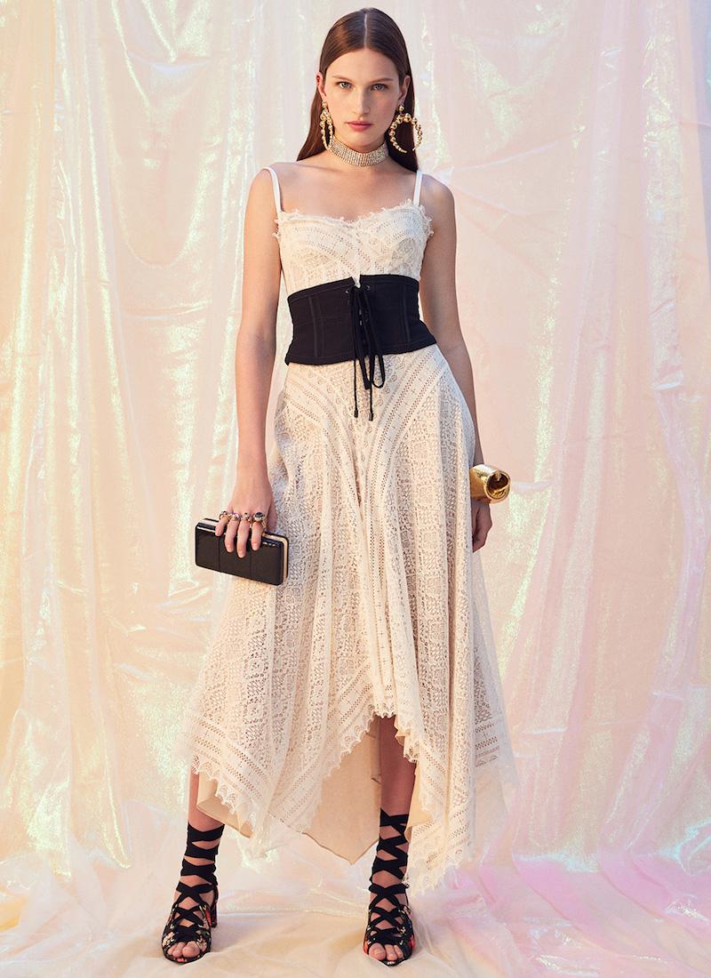Alexander McQueen Asymmetrical Lace Dress