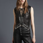 Alexander Wang Chain-Trim Leather Western Vest