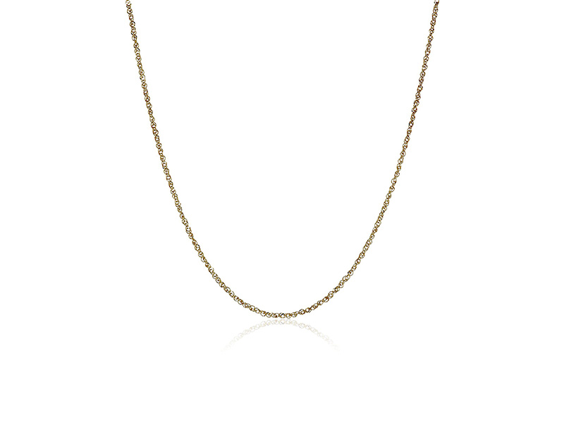 Amazon Collection 14k Solid Gold Perfectina Chain Necklace