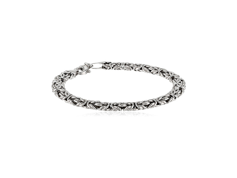Amazon Collection Sterling Silver Byzantine Chain Bracelet