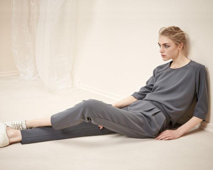 Armani Collezioni Techno Cady Raglan-Sleeve Two-Piece Jumpsuit