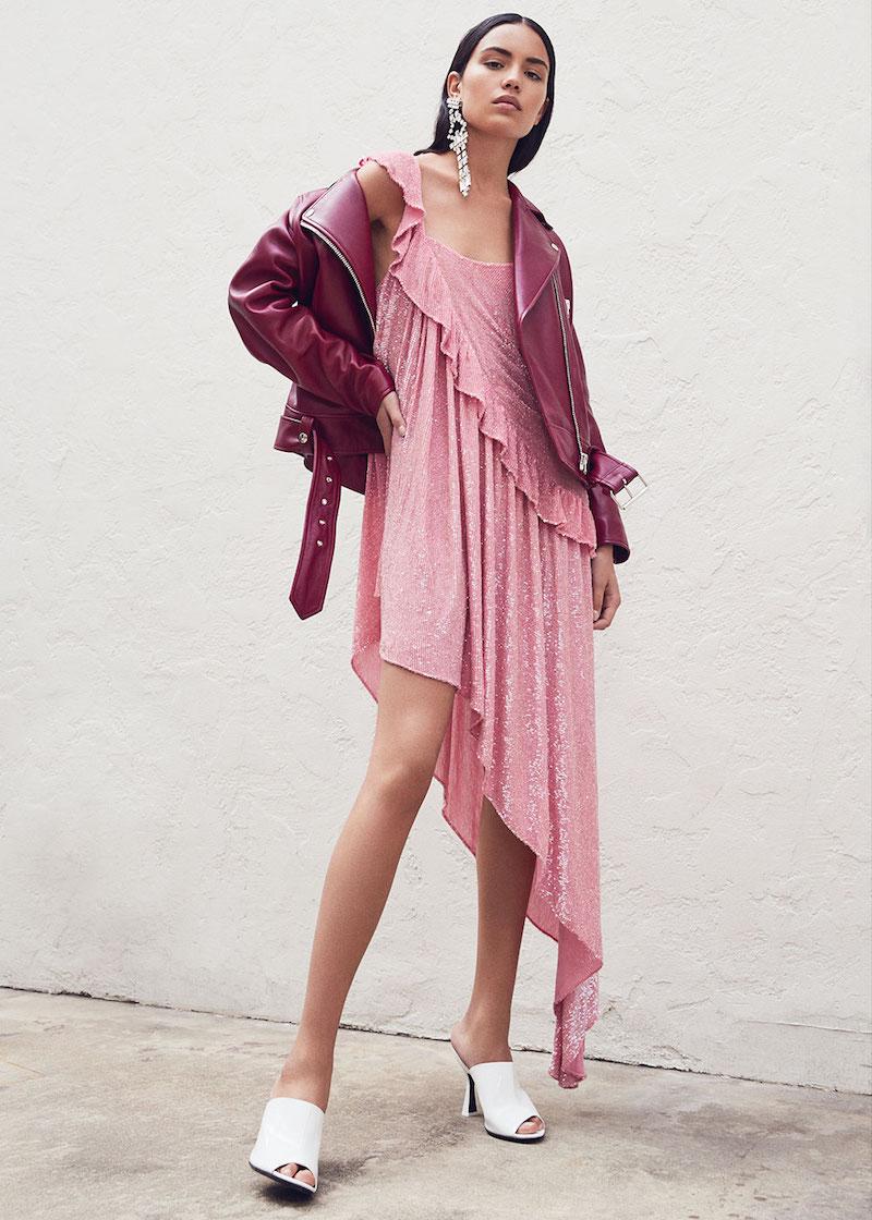 Ashish Beaded Asymmetrical Ruffle Dress