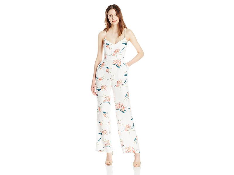 BB Dakota Tara Floral Print Crepe Jumpsuit