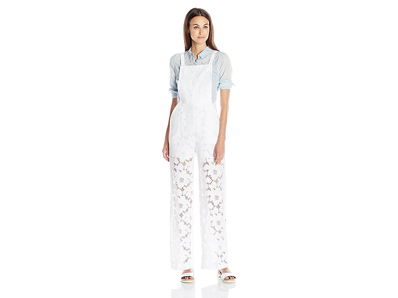 BCBGeneration Apron Lace Jumpsuit