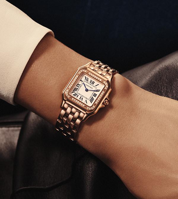 Cartier Panthère de Cartier Medium 18-Karat Pink Gold Diamond Watch