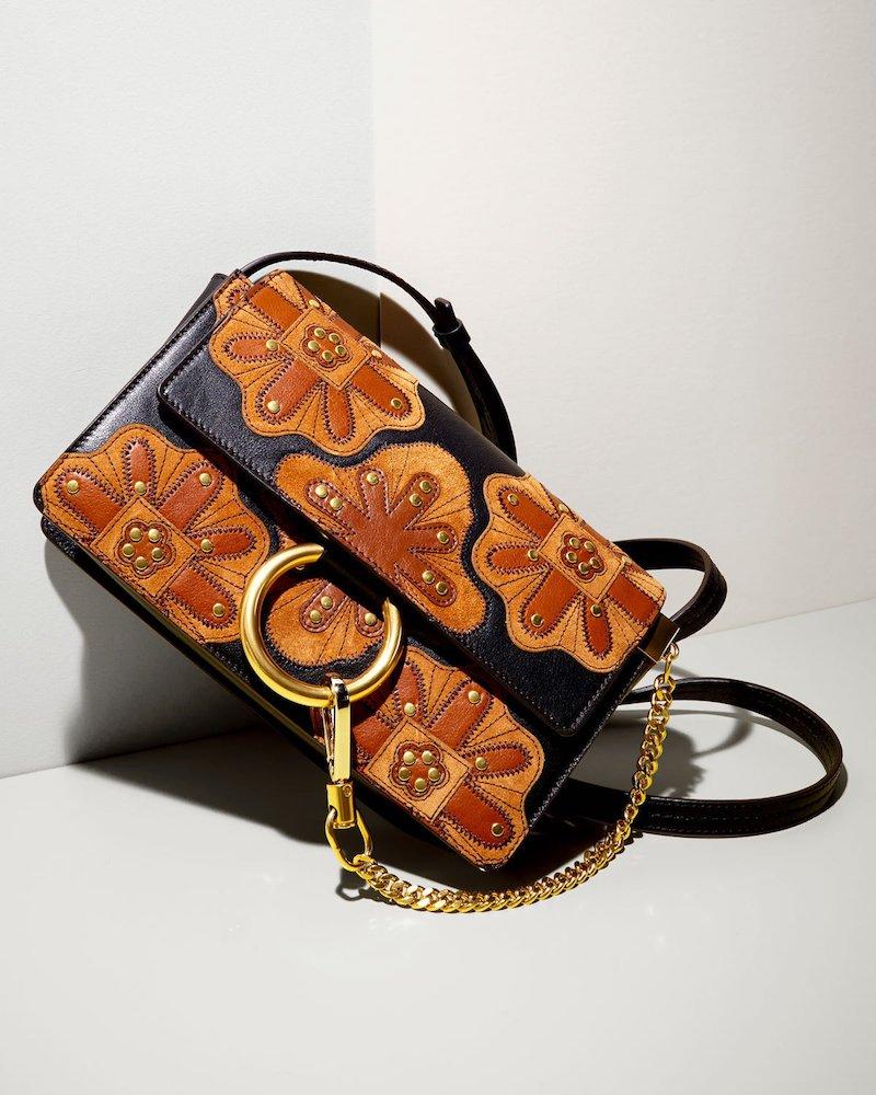 Chloe Faye Small Patchwork Leather Shoulder Bag
