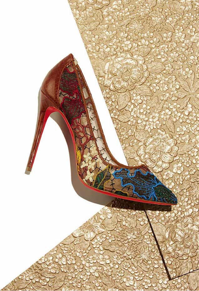 Christian Louboutin Follies Lace Red Sole Pump 1