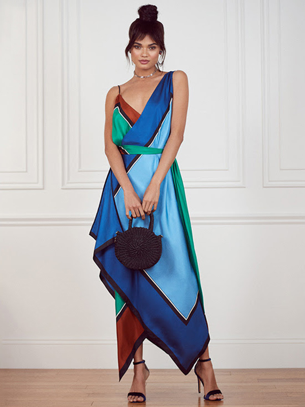 Diane von Furstenberg Scarf Tier Dress