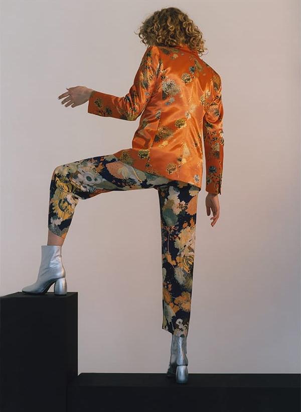 Dries Van Noten Blunt Floral-Print Woven Jacket
