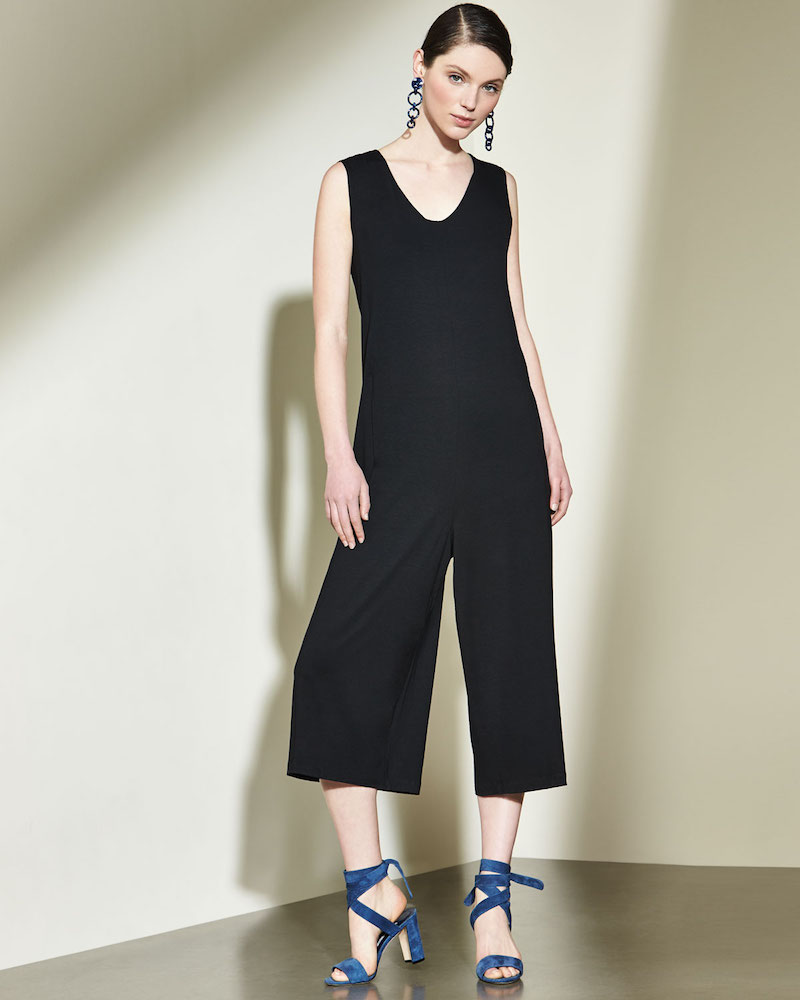 Eileen Fisher Lightweight Cropped Jersey Jumpsuit