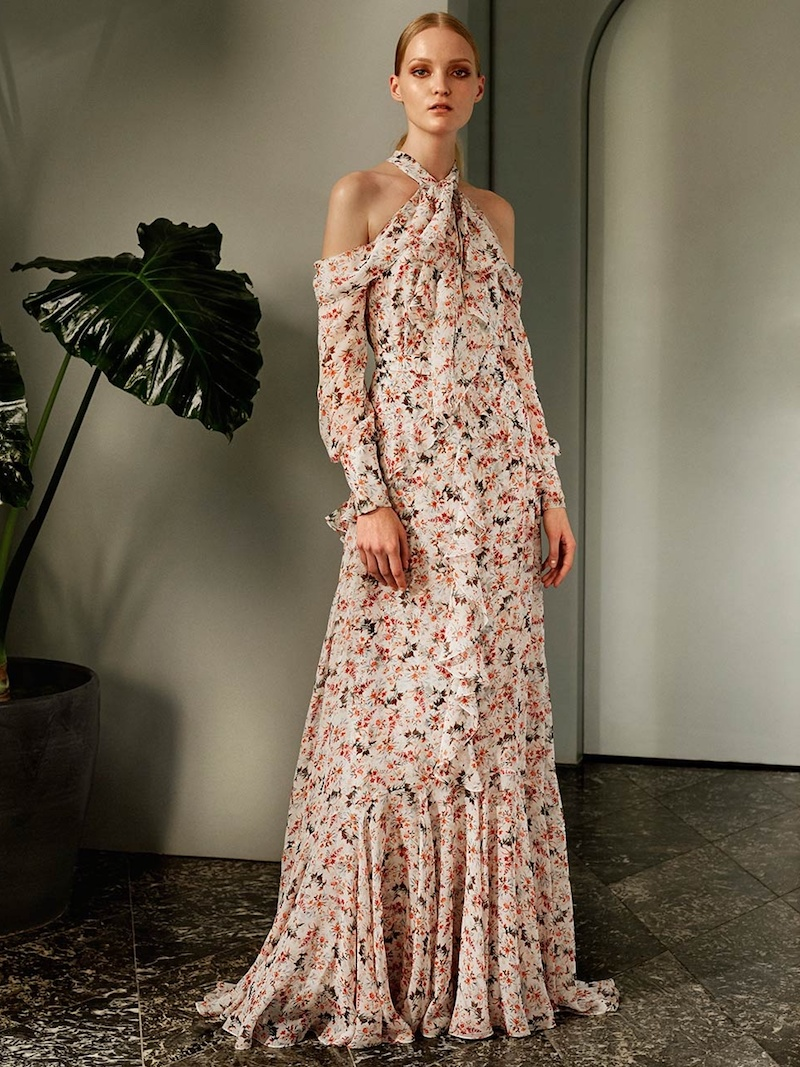 Erdem Alison Floral-Print Silk-Voile Maxi Skirt