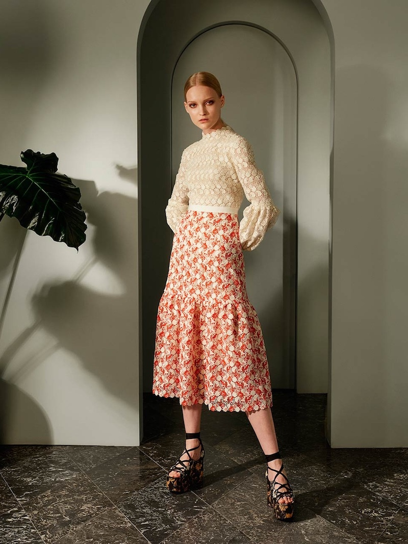 Erdem Sandra Balloon-Sleeve Guipure-Lace Dress