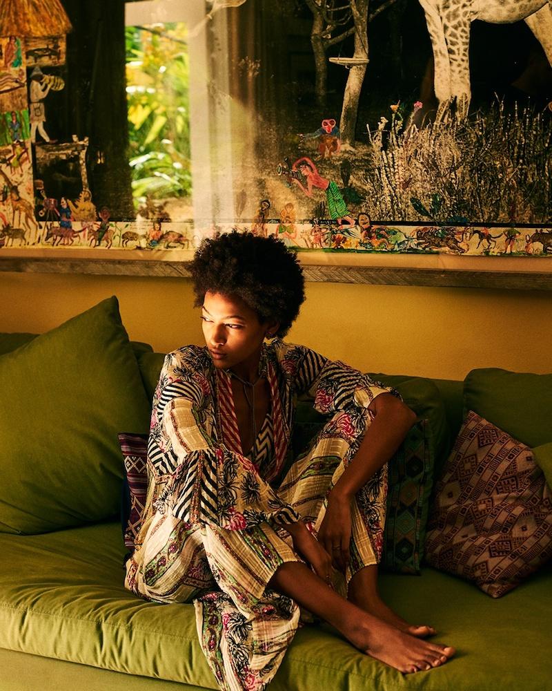 Etro Drawstring-Waist Paisley-Print Silk Gown