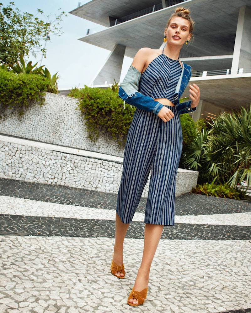 Exclusive for Intermix Elena Striped Cropped Jumpsuit