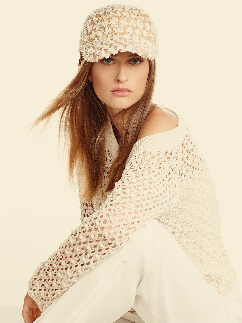 Federica Moretti Tom Frayed Canvas Baseball Cap