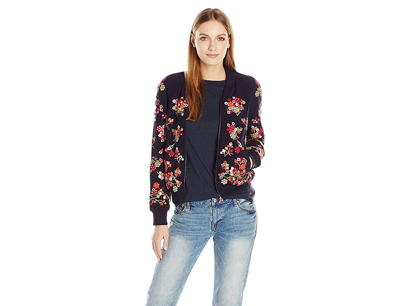 French Connection Gilliam Stitch Bomber Jacket
