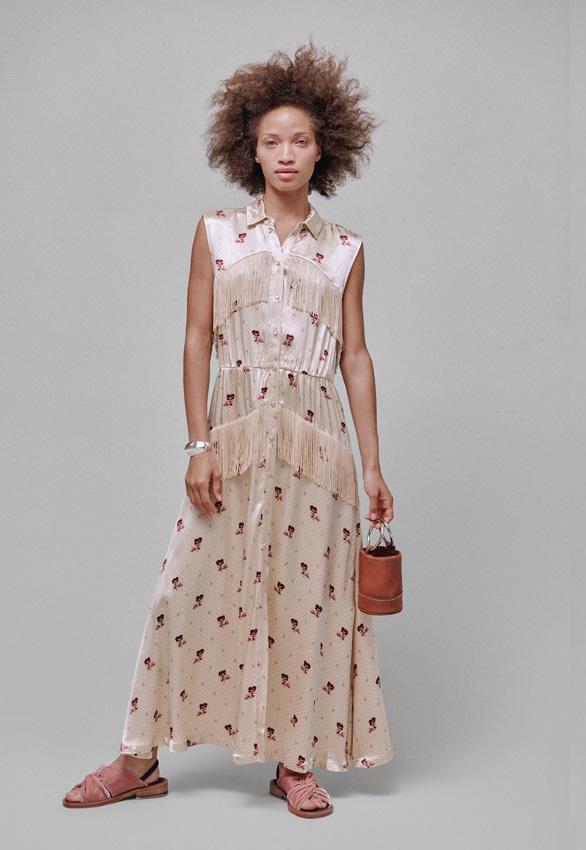 Ganni Donnelly Dress in Biscotti-